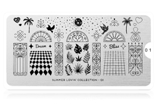 MoYou-London Schablone Summer Lovin' Collection 01