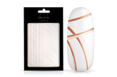 Jolifin LAVENI XL Sticker - Stripes rosé-gold