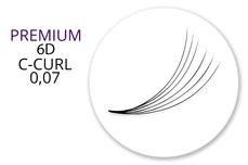 Premium MixBox - 6D Wimpernfächer C-Curl 0,07