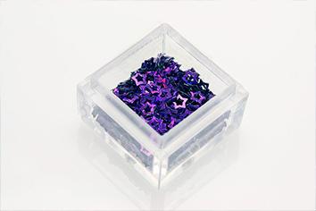 Jolifin Hologramm Sterne lila