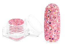 Jolifin Glitterpuder Silvermix - grapefruit sorbet