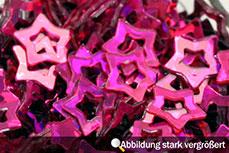 Jolifin Hologramm Sterne pink-violett