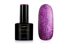Jolifin LAVENI Shellac - purple Glitter 12ml
