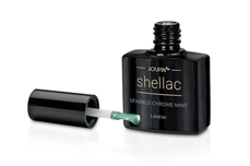 Jolifin LAVENI Shellac - sparkle chrome mint 12ml