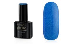 Jolifin LAVENI Shellac - blue Glitter 12ml