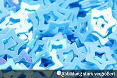 Jolifin Hologramm Sterne hellblau