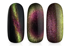 Jolifin LAVENI Shellac - Cat-Eye 5D-FlipFlop pink & green 12ml