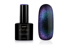Jolifin LAVENI Shellac - Cat-Eye 5D-FlipFlop purple & türkis 12ml