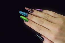 Jolifin LAVENI Shellac - Cat-Eye 5D-FlipFlop purple & türkis 12ml
