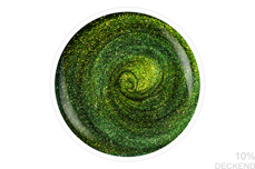 Jolifin LAVENI Shellac - Cat-Eye 5D-FlipFlop green & gold 12ml