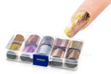 Jolifin Transfer-Nagelfolien Box - Chrome elegant