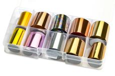 Jolifin Transfer-Nagelfolien Box - Chrome elegant