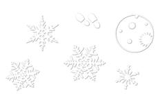 Jolifin LAVENI Christmas Sticker - Tiny snowflakes Nr. 1
