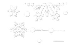 Jolifin LAVENI Christmas Sticker - Tiny snowflakes Nr. 2