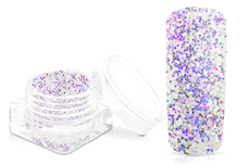 Jolifin White Mermaid Glitter - purple-green