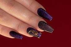 Jolifin LAVENI Shellac - Cat-Eye 5D FlipFlop ocean & lilac 12ml