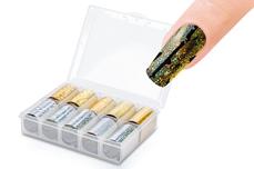 Jolifin Transfer-Nagelfolien Box - Silber & Gold
