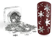 Jolifin Snowflake Glitter - silver elegance