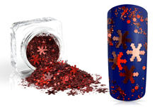 Jolifin Snowflake Glitter - cranberry