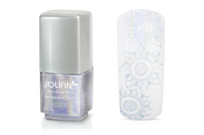 Jolifin Stamping-Lack - hologramm silver 12ml