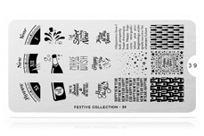 MoYou-London Schablone Festive Collection 39