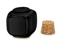 Jolifin Keramikbehälter schwarz mit Korken