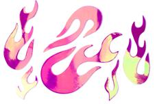 Jolifin Aurora Sticker - Flame lollipop