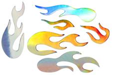Jolifin Aurora Sticker - Flame silver rainbow