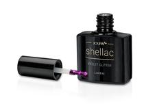 Jolifin LAVENI Shellac - violet Glitter 12ml