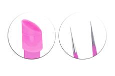 Jolifin Nailart Pinzette 2in1 - pink