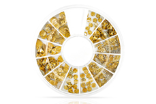 Jolifin Strass-Display - goldene Ornamente