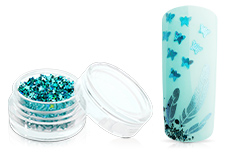 Jolifin Glitter Butterfly blau