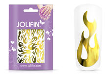 Jolifin Aurora Sticker - Flame gold chrome