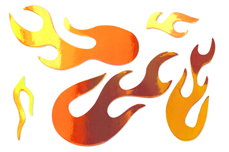 Jolifin Aurora Sticker - Flame fire