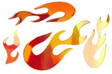 Jolifin Aurora Sticker - Flame sunset