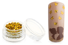Jolifin Glitter Butterfly gold
