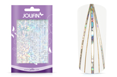 Jolifin Aurora Sticker - Stripes silver Galaxy