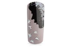 Jolifin Glitter Butterfly silber