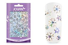 Jolifin Aurora Sticker - Snowflakes silver Galaxy