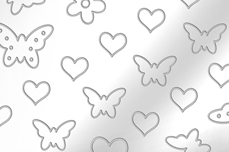 Jolifin Aurora Sticker - Butterfly Mix silver chrome