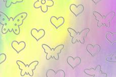Jolifin Aurora Sticker - Butterfly Mix diamond