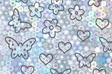 Jolifin Aurora Sticker - Butterfly Mix silver Galaxy