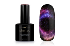 Jolifin LAVENI Shellac - Cat-Eye 9D FlipFlop purple & peach 12ml