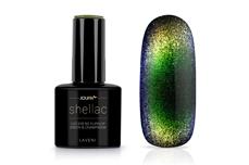 Jolifin LAVENI Shellac - Cat-Eye 9D FlipFlop green & champagne 12ml