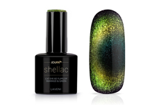 Jolifin LAVENI Shellac - Cat-Eye 9D FlipFlop smaragd & green 12ml