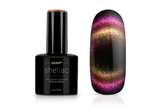 Jolifin LAVENI Shellac - Cat-Eye 9D FlipFlop pink & green 12ml