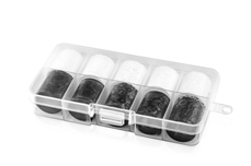 Jolifin Transfer-Nagelfolien Box - white & black