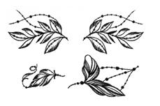 Jolifin Black Elegance Tattoo Nr. 45