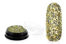 Jolifin LAVENI Luxury Glitter - champagne smaragd