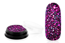 Jolifin LAVENI Luxury Glitter - black magenta